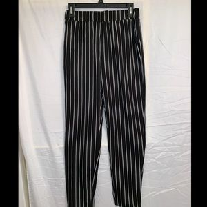 Black and White Stripped Pants